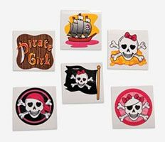 Pirate party favours - pirate girl tattoos