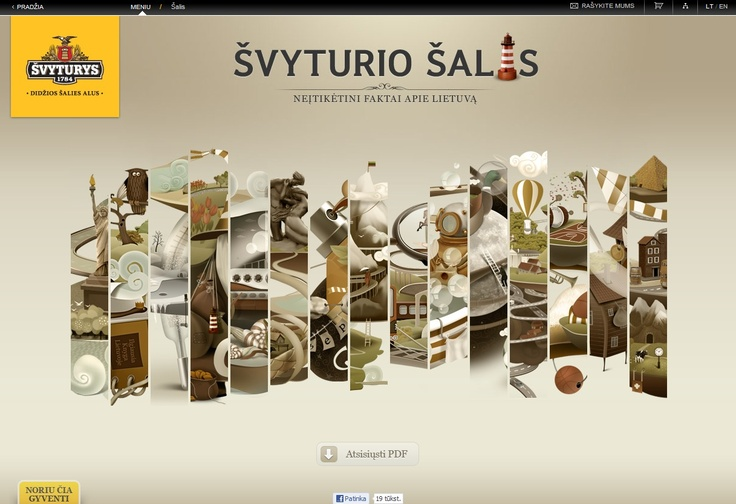 Svyturio Salis Website Design