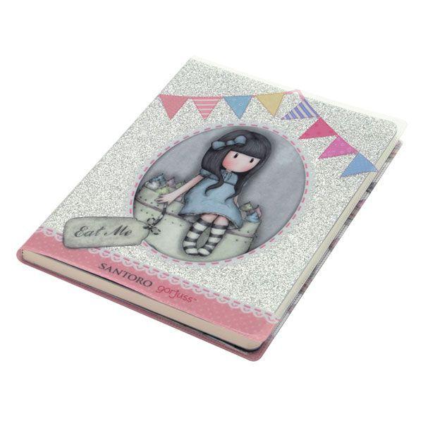Santoro Gorjuss Σημειωματάριο με glitter – Sweet Cake
