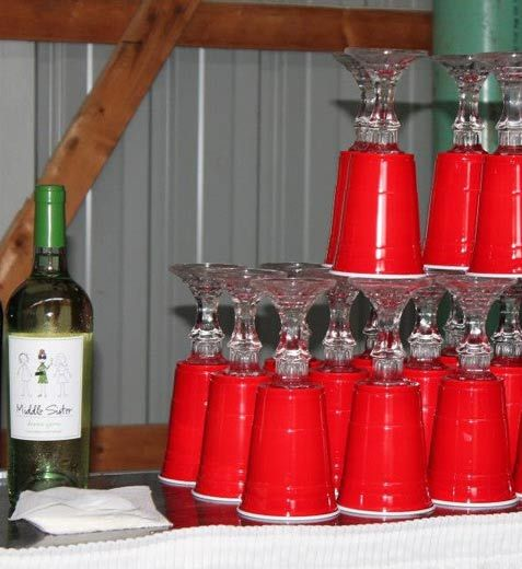 Red solo cup – proceed to party! attach candlesticks from the dollar store!