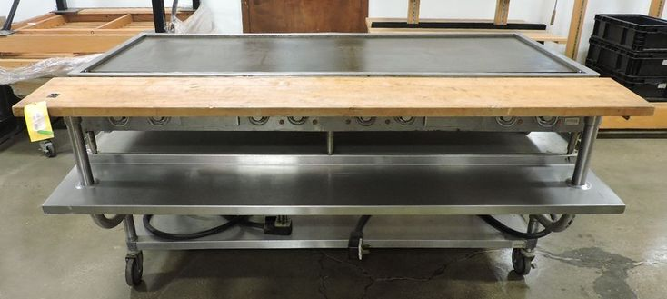 """Wells G-60 Commercial 69"""" Electric Griddle W/ 72"""" Equipment Stand #Wells"""