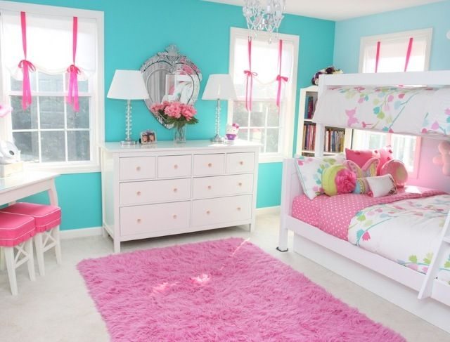 Pink blue girls room