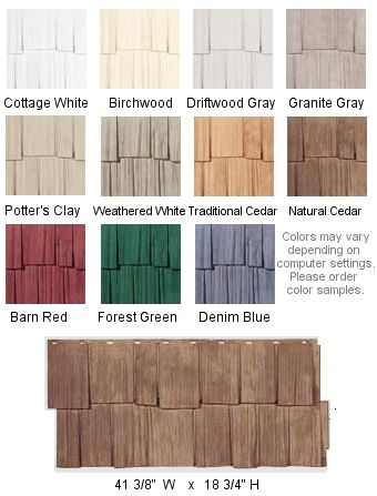 Hand Split Shake Siding - Nailite Vinyl Exterior Home Siding | ABC Home Center = Cottage White, Barn Red, or Denim Blue