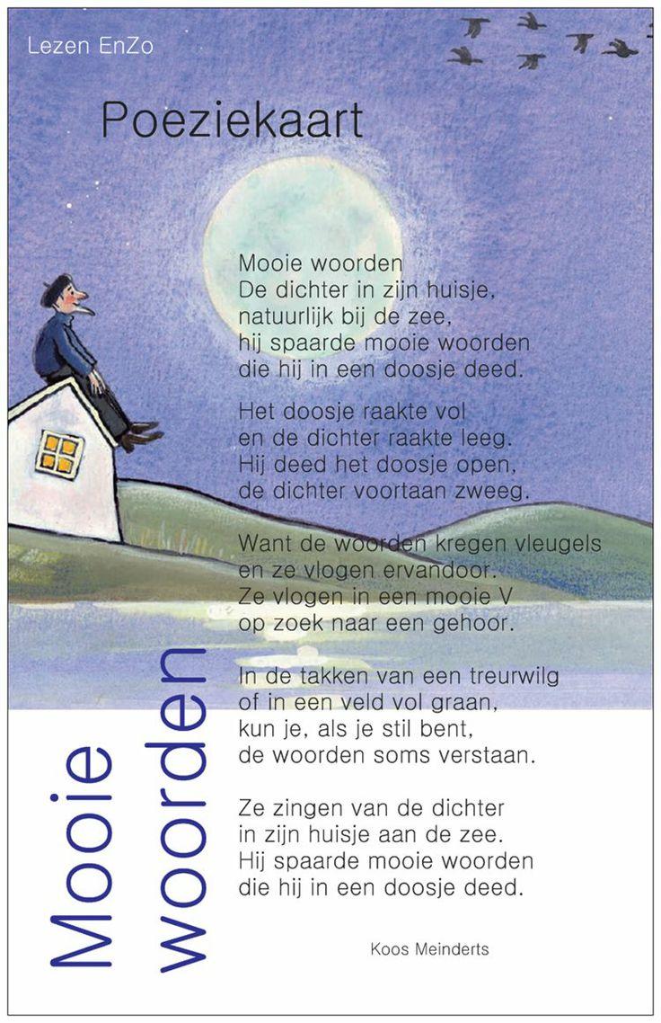 Poëziekaart > Gedichtje: Mooie woorden van Koos Meinders
