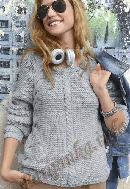 Пуловер (ж) 08*86 Phildar №3568