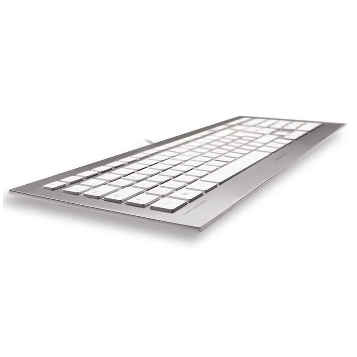 Le clavier Cherry Strait Corded Keyboard est un modèle haut de gamme qui offre le confort et le plaisir d'une conception ultra-plate et d'un design absolument superbe. Surface métallisée, design ultra-plat, finitions exceptionnelles... Dotez votre bureau d'un véritable bijou d'informatique moderne !