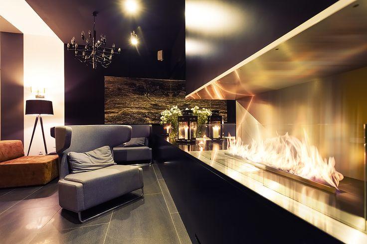 Fire Line Automatic 2 by Planika at the Poziom 511 Design Hotel & Spa www.planikafires.com www.facebook.com/planikafire