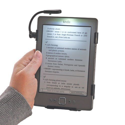 SimpleLight for Kindle by Grantwood Technology, Attaches to Kindle (Latest) 4th/5th Generation (Not Kindle Touch), NO Batteries Needed by Grantwood Technology. Save 29 Off!. $25.00. Grantwood Technology presents The SimpleLight for the Kindle 4th or 5th Generation, the LATEST KINDLE, not Kindle Touch or Kindle Keyboard, PLEASE LOOK AT PHOTOS)**. This custom-made light's slide behind the Kindle and uses the Kindle's battery power to provide a bright, even, glare-free illumination ...