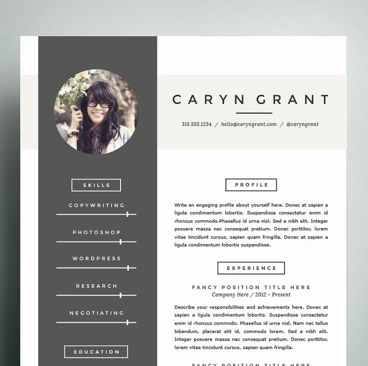 19 best cv images on pinterest resume templates professional