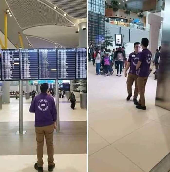English Bellow في مطار اسطنبول الجديد هناك أشخاص يرتدون البدلة البنفسجية مكتوب عليها Ask Me يعني اسألني لتقديم ال Visit Maldives Wedding Honeymoons Maldives