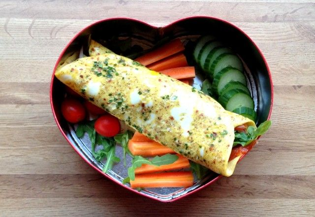 Sunn og næringsrik lunsj med omelettwraps