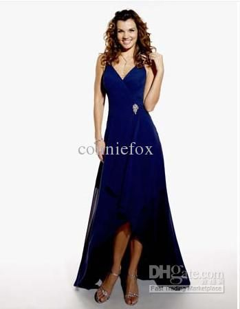 Wholesale Romantic New Design A-line V Neck Dark RUffle Chiffon traditional bridesmaid dress, Free shipping, $70.85-94.4/Piece | DHgate
