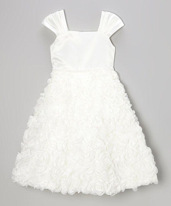 Loving this Ivory Ruffle Shift Dress - Toddler & Girls on #zulily! #zulilyfinds