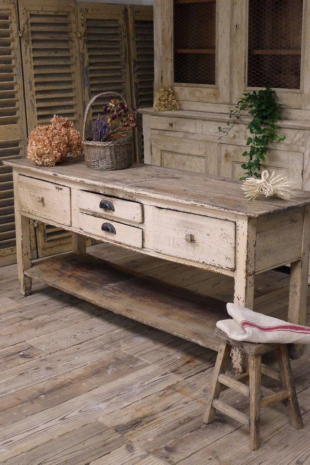 アンティーク カウンターテーブル Swedish antique counter table ¥ 368,000yen