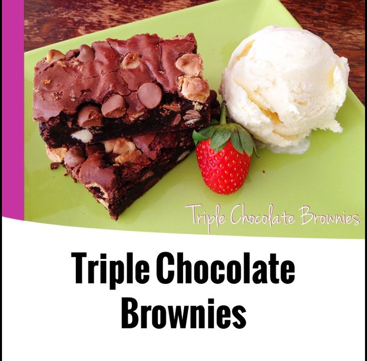{Thermomix} Triple Chocolate Brownies