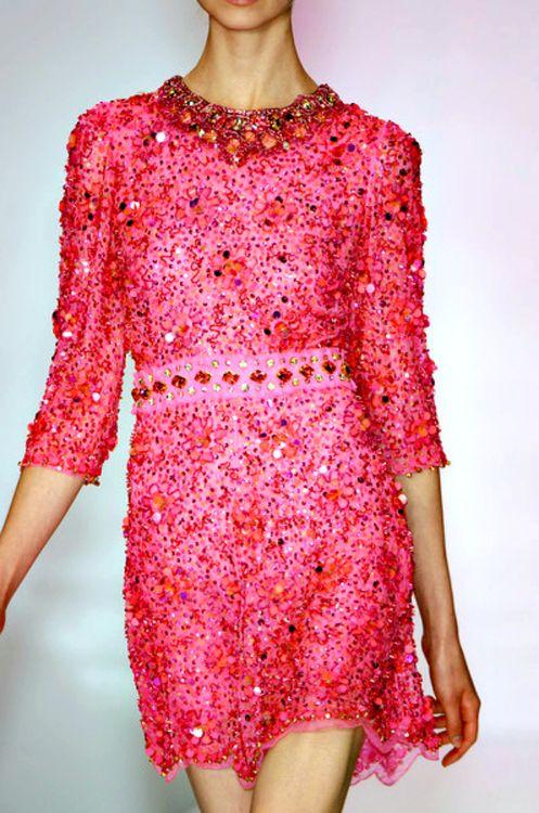 .: Pink Sparkle, Sparkles, Dresses, Spring 2009, Posts, Packham Spring, Glitter, Jenny Packham