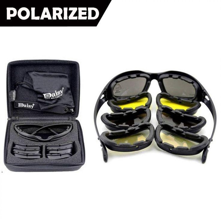 Nowy Daisy C5 Armia Gogle Spolaryzowane Okulary Mężczyźni Wojskowy Wojna Tactical Gogle Pustynna Burza Sun Okulary Dla mężczyzn