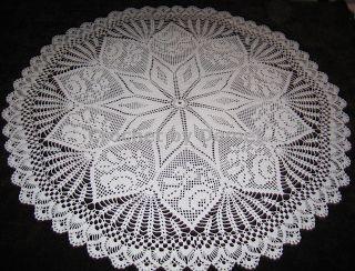 crochet tablocloth | PATTERN CROCHET TABLECLOTH OVAL « CROCHET FREE PATTERNS