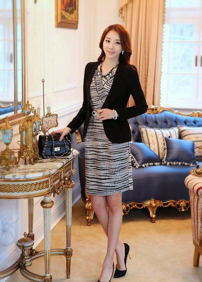73 best fuste pencil images on pinterest skirts pencil skirts moda coreana 50 modelos de blazers para chicas mundo fama corea fandeluxe Image collections