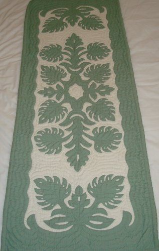 Hawaiian quilt table runner - not sure where it is from (could be Philippines)…