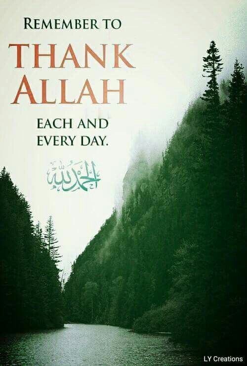 Remember to thank Allah each and everyday