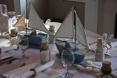 centerpieces: Babies, Baby Shower Theme, Nautical Shower, Baby Shower Centerpieces, Birthday Cookies, Nautical Baby Showers, Nautical Theme, Nautical Party'S, Nautical Parties
