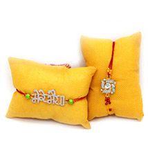 Silver rakhi set of 2