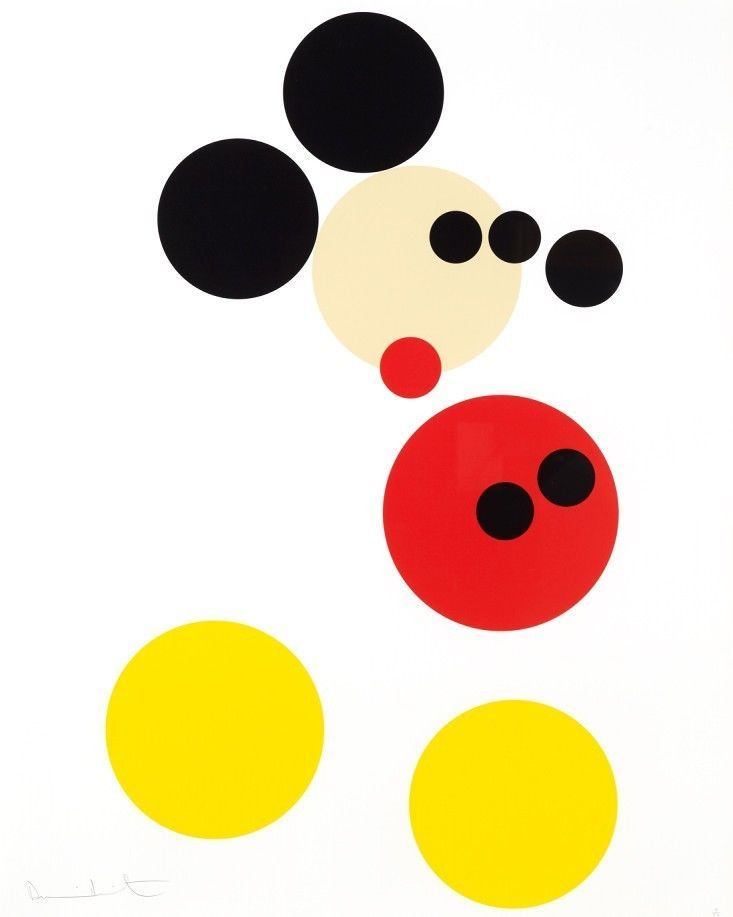 Original Damien Hirst Screenprint, Mickey, 2014