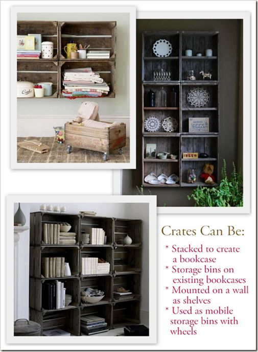 Crates With A How To On Building Your Own From Pallet Wood