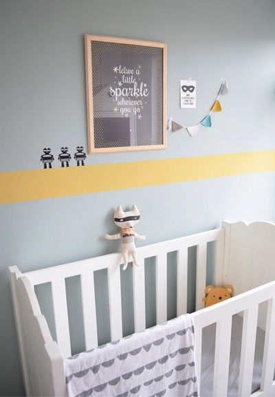 Binnenkijken bij eengoedverhaal - Okergeel en Early Dew in de babykamer