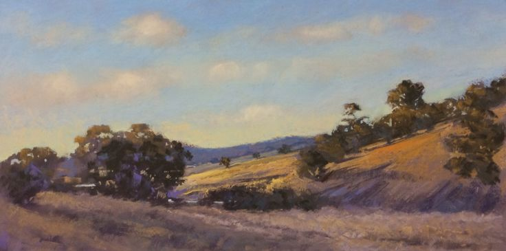 "Pastel Landscape painting "" Near Dicks Creek Quarry"" by Amanda McLean"
