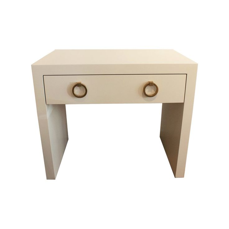 White Lacquer End Table