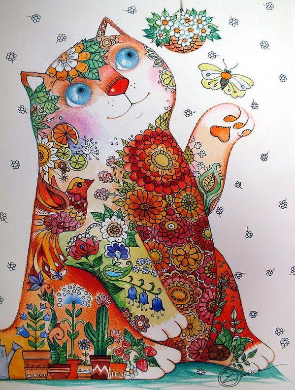 """♥ """"Bucolic Cat"""" by Oxana Zaika."""