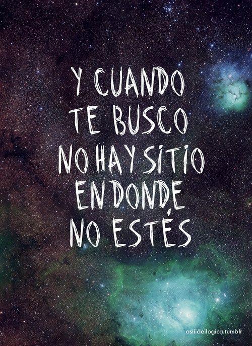 Y cuando te busco ..