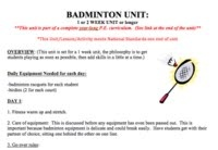 This is a FREE Badminton Unit :)