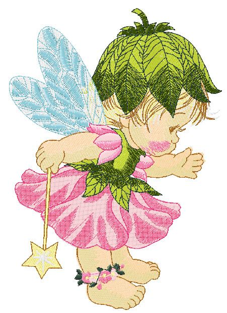Free Fairy Machine Embroidery Designs