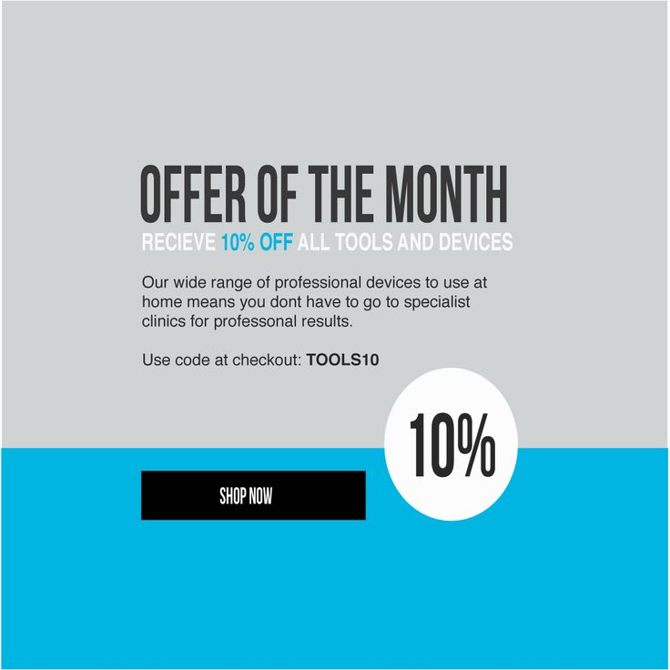 OFFER OF THE MONTH: We are offering 10% off all tools and devices! Keep an eye out this week for our top recommended products-