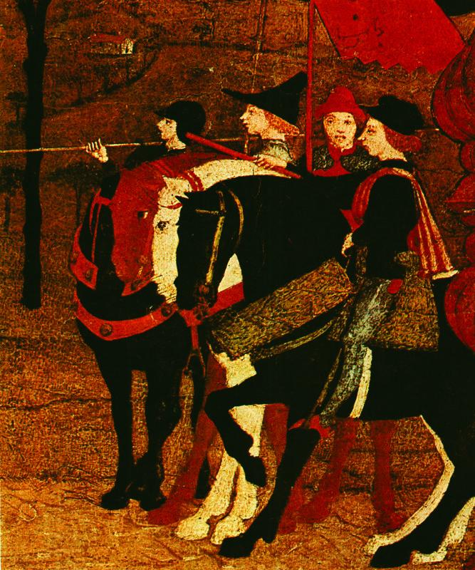 Фрагмент 1465-1468 гг. Паоло Учелло.  Легенда об остии. Казнь Евреев.