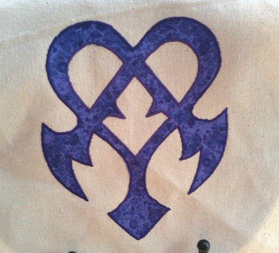 Kingdom Hearts 3D Nightmare Symbol Messenger Bag Or Pillow