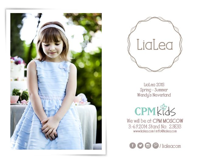 CPM Kids : We will be at CPM MOSCOW 3-6.9.2014 Stand No: 23E33   #cpm #cpmmoscow #cpmkids #lialea #fashion #kidsfashion #teenfashion