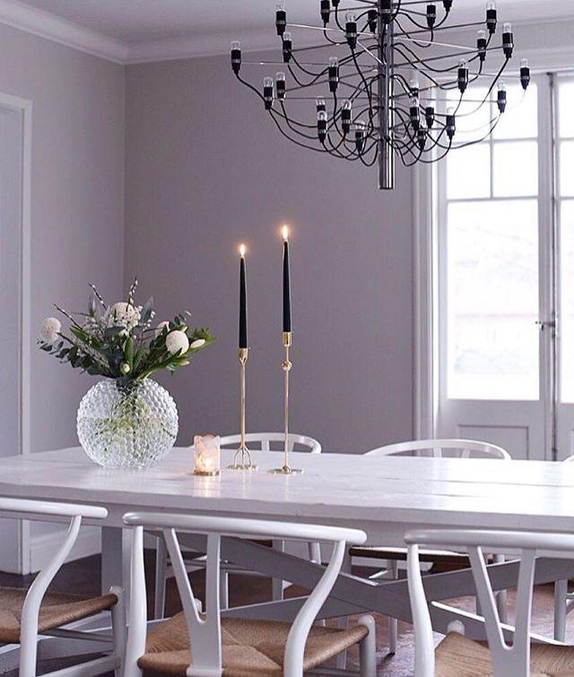 I'm loving this purplish grey wall color