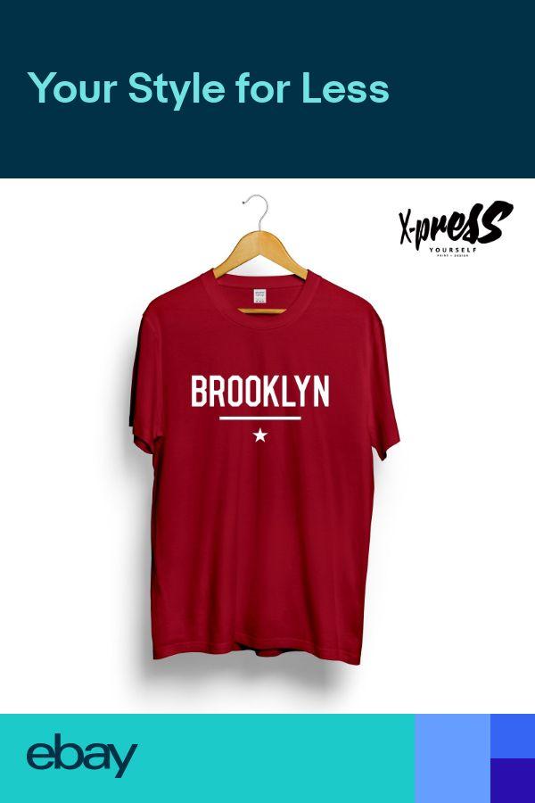 a57e3f4e4 BROOKLYN STAR PRINTED MENS TSHIRT NYC NEW YORK CONEY ISLAND STREET SWAG  STYLE