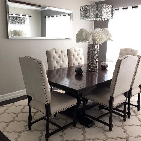 #ZGallerieMoment: @anythingscrappy's #TraditionalTwist dining room, styled with our chic Montecito Collection + Axel Vase.