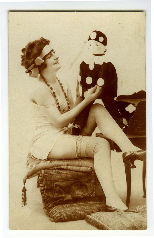1920s Sexy French Lingerie Flapper w Boudoir Doll Risque N Nude Photo Postcard   eBay - glamour lingerie, lingerie female, ladies lingerie brands