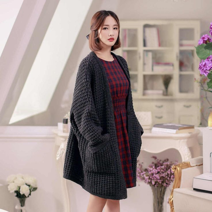 Japanese Style - loose twist thick sweater jacket