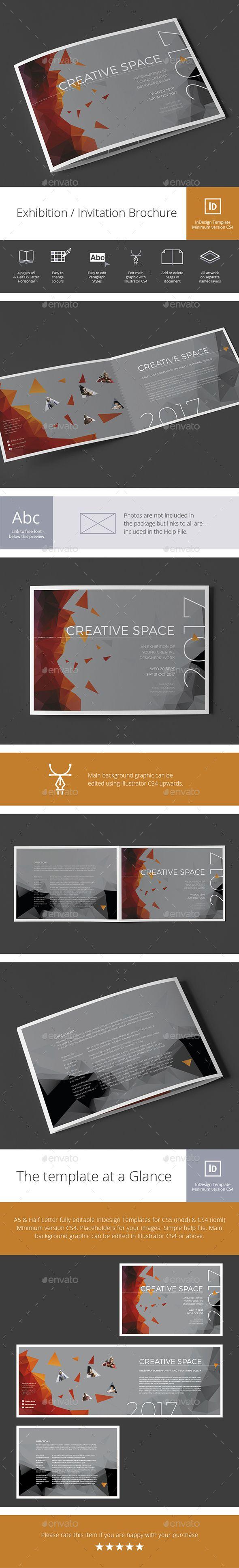 Exhibition / Invitation Brochure — InDesign INDD #graphic design #exhibition • Download ➝ https://graphicriver.net/item/exhibition-invitation-brochure/19499091?ref=pxcr