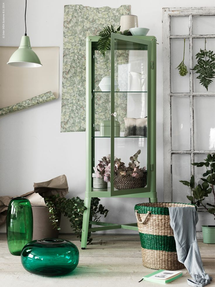 Ikea Garderobekast Verlichting ~ Ikea, Green and Cabinets on Pinterest