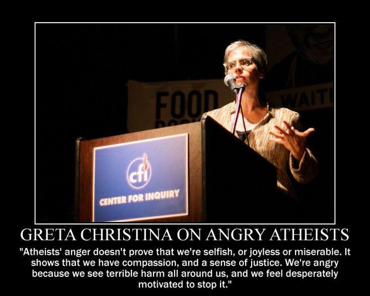 Greta Christina on Angry Atheists by fiskefyren.deviantart.com on @DeviantArt