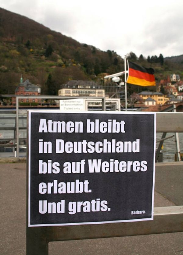 Barbaras Plakate gegen Verbote, Hinweise, Werbung und Idioten
