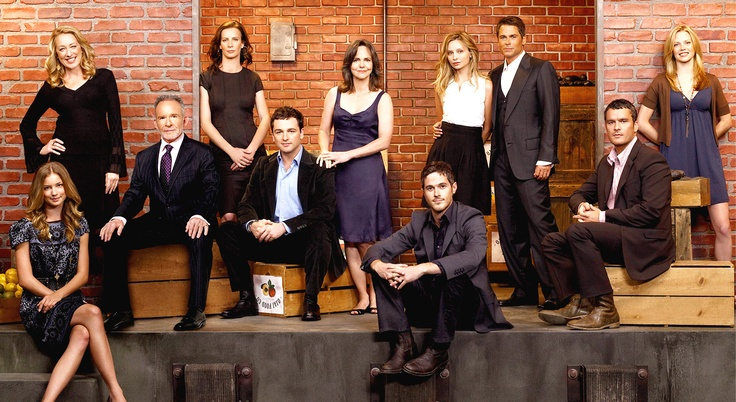 Brothers and Sisters cast members that I know are 3 people.  Sally Fields plays the mom. Calista Flockhart is her daughter and she is married to Rob Lowe.